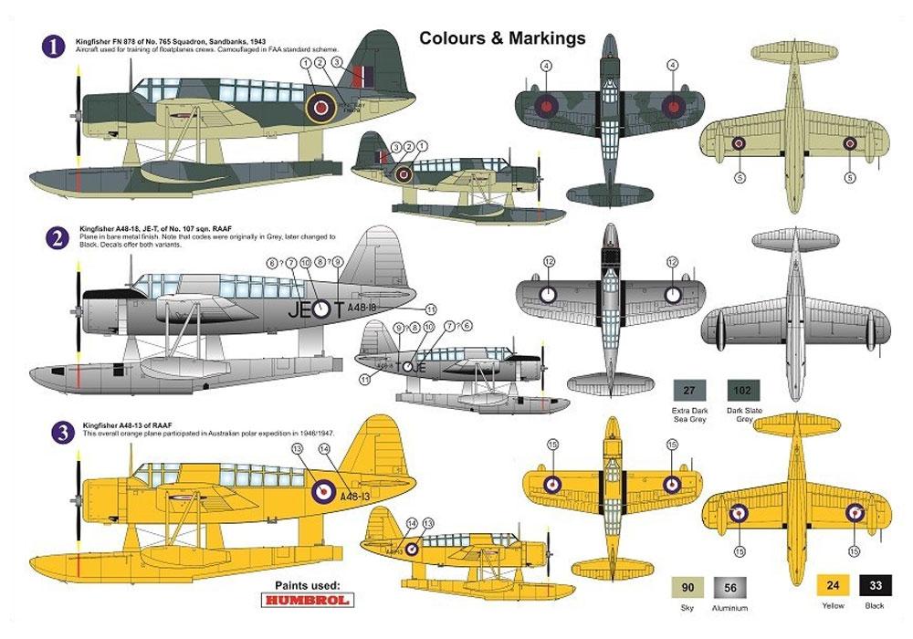 ヴォート キングフィッシャー Mk.1 艦隊航空隊&オーストラリア空軍プラモデル(AZ model1/72 エアクラフト プラモデルNo.AZ7635)商品画像_1