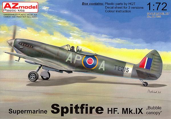 スーパーマリン スピットファイア HF Mk.9 バブルキャノピープラモデル(AZ model1/72 エアクラフト プラモデルNo.AZ7633)商品画像