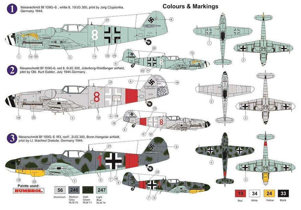メッサーシュミット Bf109G-6 JG.300 ヴィルデザウ パート3プラモデル(AZ model1/72 エアクラフト プラモデルNo.AZ7628)商品画像_1