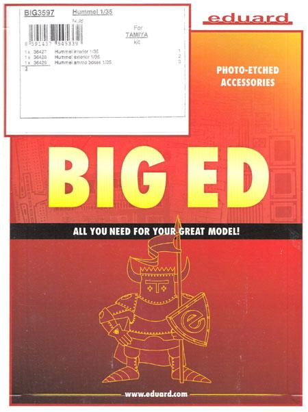 ドイツ 銃自走榴弾砲 フンメル ビッグED エッチングパーツセット (タミヤ用)エッチング(エデュアルド1/35 BIG ED (AFV)No.BIG3597)商品画像