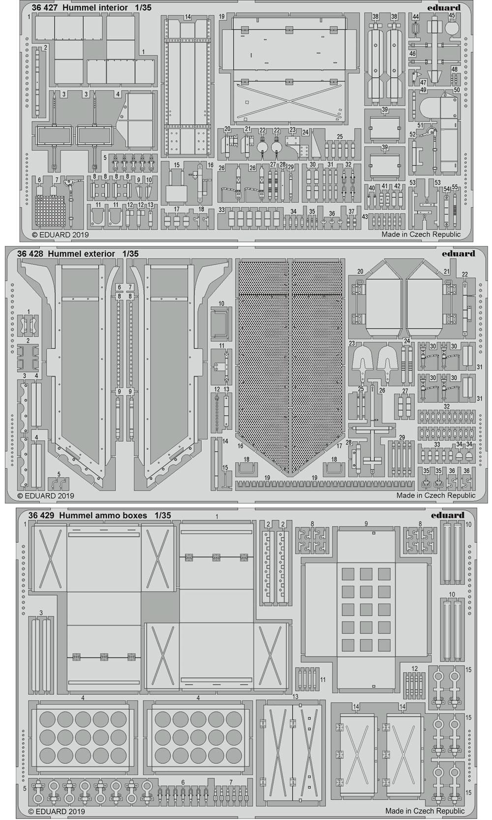 ドイツ 銃自走榴弾砲 フンメル ビッグED エッチングパーツセット (タミヤ用)エッチング(エデュアルド1/35 BIG ED (AFV)No.BIG3597)商品画像_1
