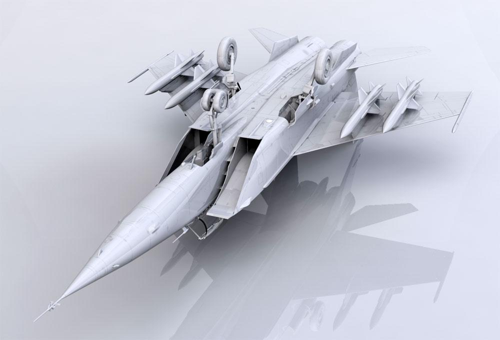 MiG-25BMプラモデル(ICM1/72 エアクラフト プラモデルNo.72175)商品画像_3