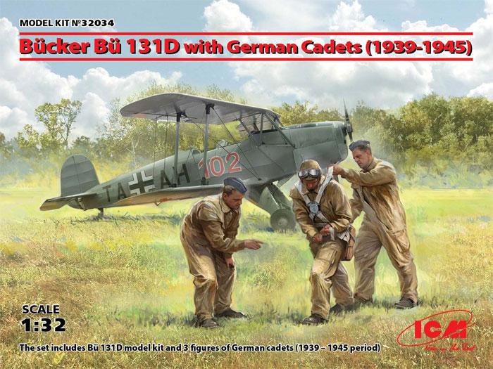 ビュッカー Bu131D w/ドイツ練習生フィギュア 1939-1945プラモデル(ICM1/32 エアクラフトNo.32034)商品画像