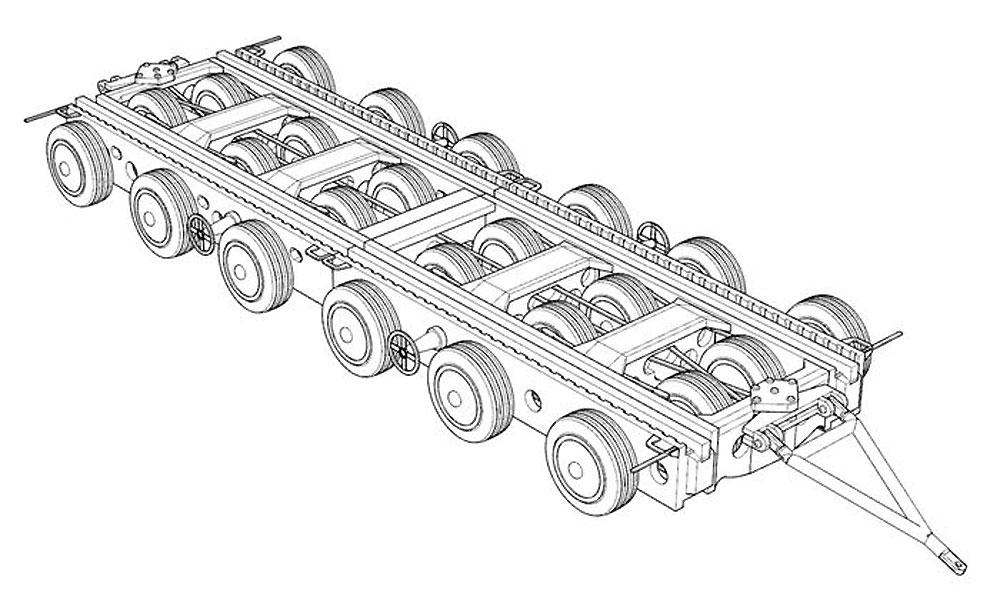 クレメイヤー 80t 重トレーラーレジン(ブレンガン1/144 レジンキットNo.BRS144048)商品画像_1