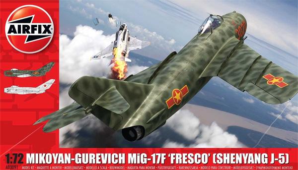 ミコヤン グレヴィッチ MiG-17F フレスコ (瀋陽 J-5)プラモデル(エアフィックス1/72 ミリタリーエアクラフトNo.A03091)商品画像