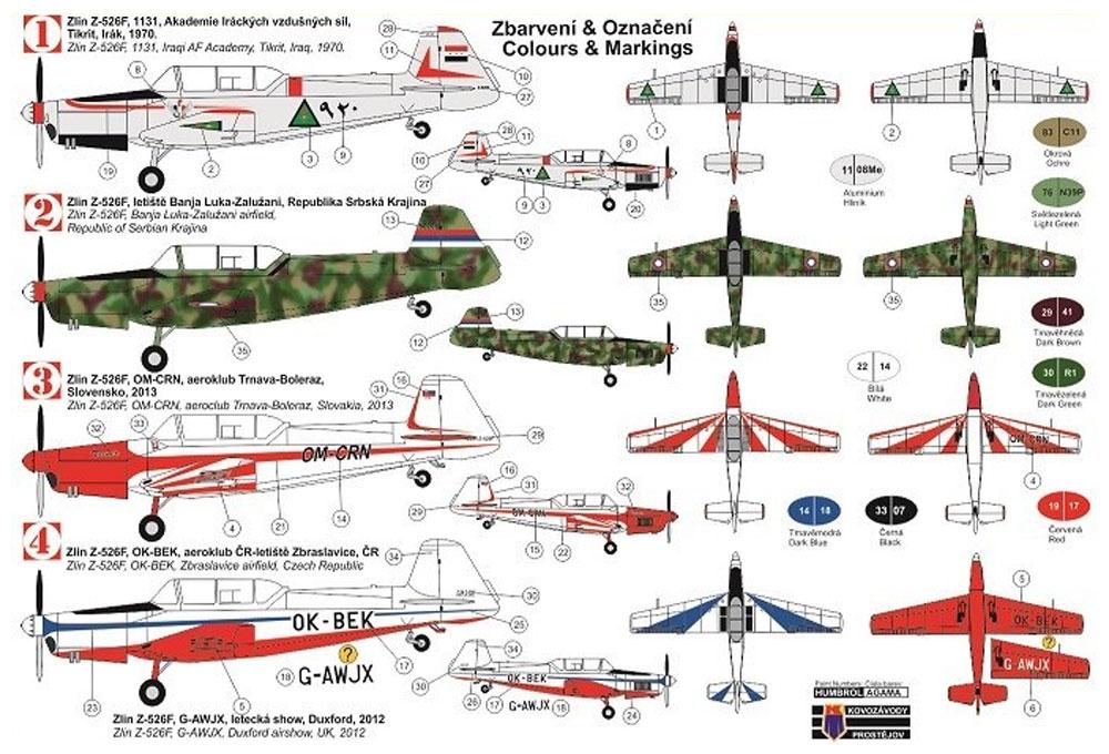 ズリン Z-526F トレーナープラモデル(KPモデル1/72 エアクラフト プラモデルNo.KPM0155)商品画像_1