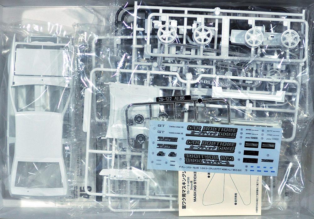 カーブティッククラブ AE86 トレノ '85 (トヨタ)プラモデル(アオシマ1/24 ザ・チューンドカーNo.045)商品画像_1