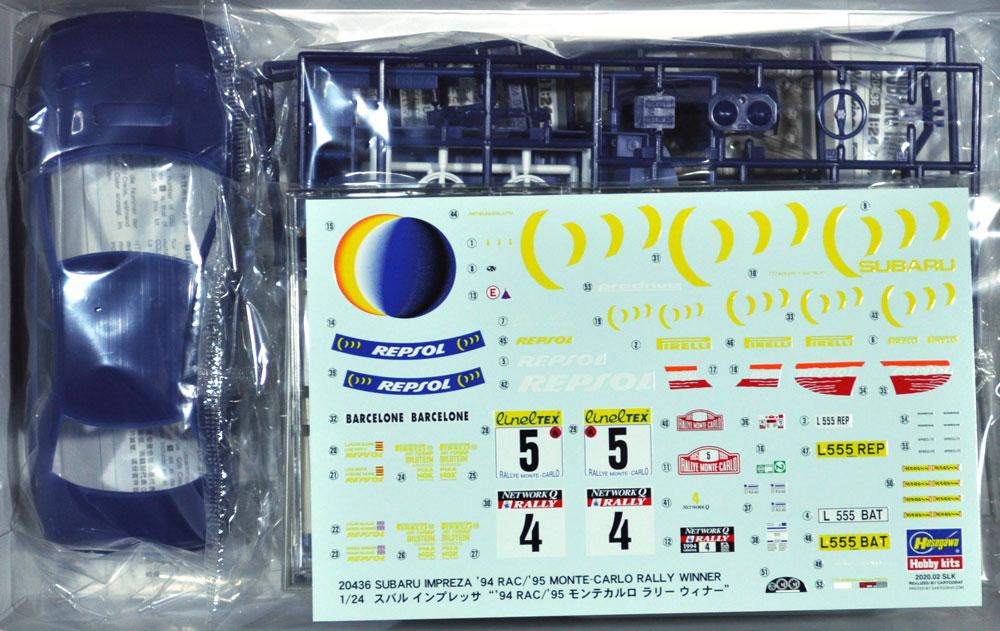 スバル インプレッサ '94 RAC/ '95 モンテカルロ ラリー ウィナープラモデル(ハセガワ1/24 自動車 限定生産No.20436)商品画像_1