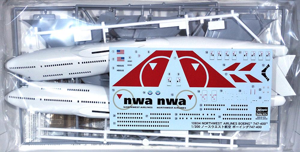 ノースウエスト航空 ボーイング 747-400プラモデル(ハセガワ1/200 飛行機 限定生産No.10834)商品画像_1