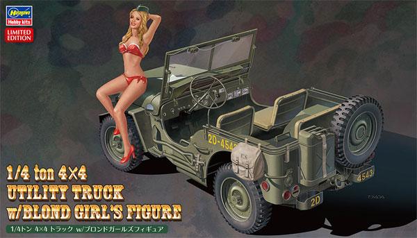 1/4トン 4×4 トラック w/ブロンドガールズフィギュアプラモデル(ハセガワ1/24 自動車 限定生産No.SP449)商品画像