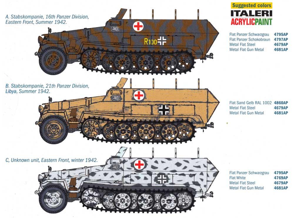 ドイツ Sd.Kfz.251/8 野戦救急車プラモデル(イタレリ1/72 ミリタリーシリーズNo.7077)商品画像_1