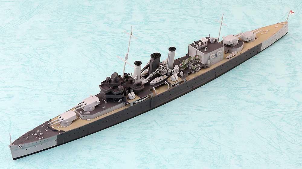 英国海軍 重巡洋艦 コーンウォールプラモデル(アオシマ1/700 ウォーターラインシリーズNo.810)商品画像_1