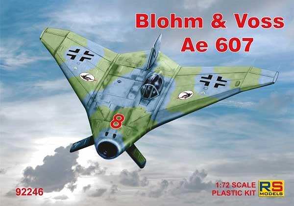 ブロム ウント フォス Ae607 ルフトヴァッフェ 1945プラモデル(RSモデル1/72 エアクラフト プラモデルNo.92246)商品画像