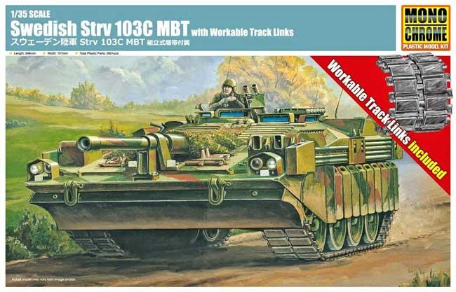 スウェーデン陸軍 Strv 103C MBT 組立式履帯附属プラモデル(モノクローム1/35 AFVNo.MCT919)商品画像