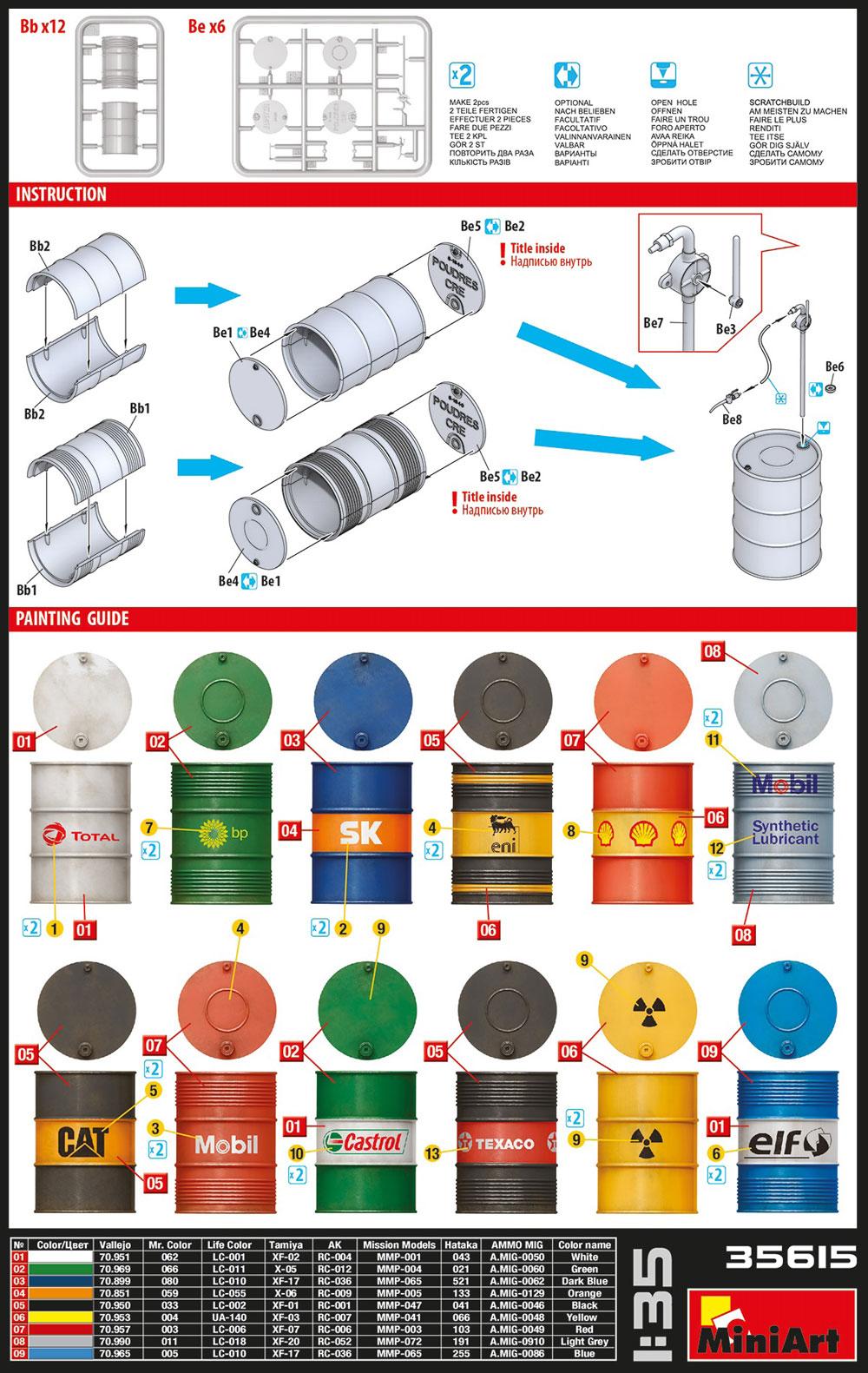 現代のオイルドラム缶 200Lプラモデル(ミニアート1/35 ビルディング&アクセサリー シリーズNo.35615)商品画像_1