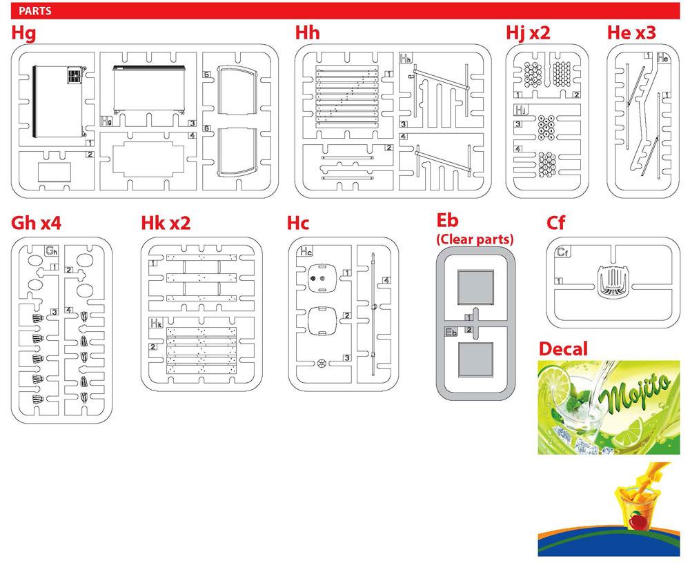 路上の果物屋プラモデル(ミニアート1/35 ビルディング&アクセサリー シリーズNo.35612)商品画像_2