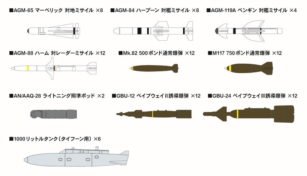 現用 エアクラフトウェポンセット 3プラモデル(ピットロードSN 航空機 プラモデルNo.SNW003)商品画像_1