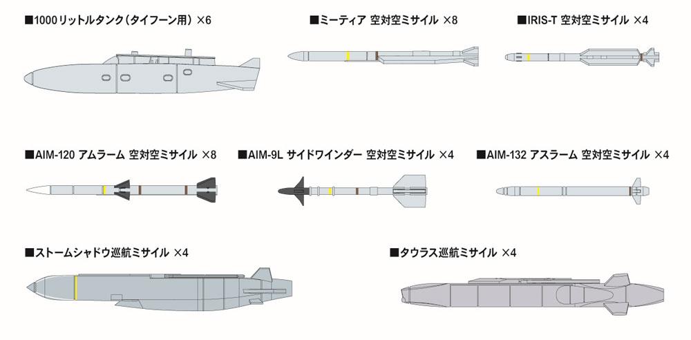 現用 エアクラフトウェポンセット 4プラモデル(ピットロードSN 航空機 プラモデルNo.SNW004)商品画像_1