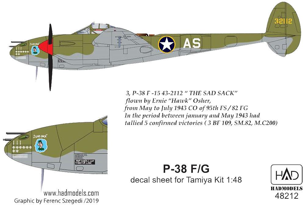 P-38F/G デカール (タミヤ用)デカール(HAD MODELS1/48 デカールNo.48212)商品画像_3