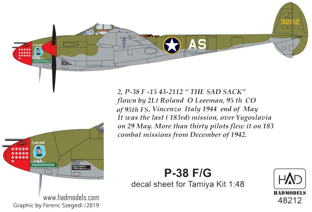 P-38F/G ライトニング デカール (タミヤ用)デカール(HAD MODELS1/48 デカールNo.HAD48212)商品画像_4