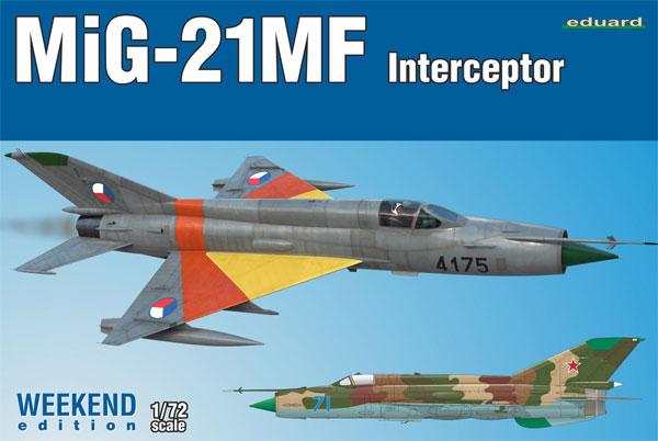 MiG-21MF 迎撃機プラモデル(エデュアルド1/72 ウィークエンド エディションNo.7453)商品画像