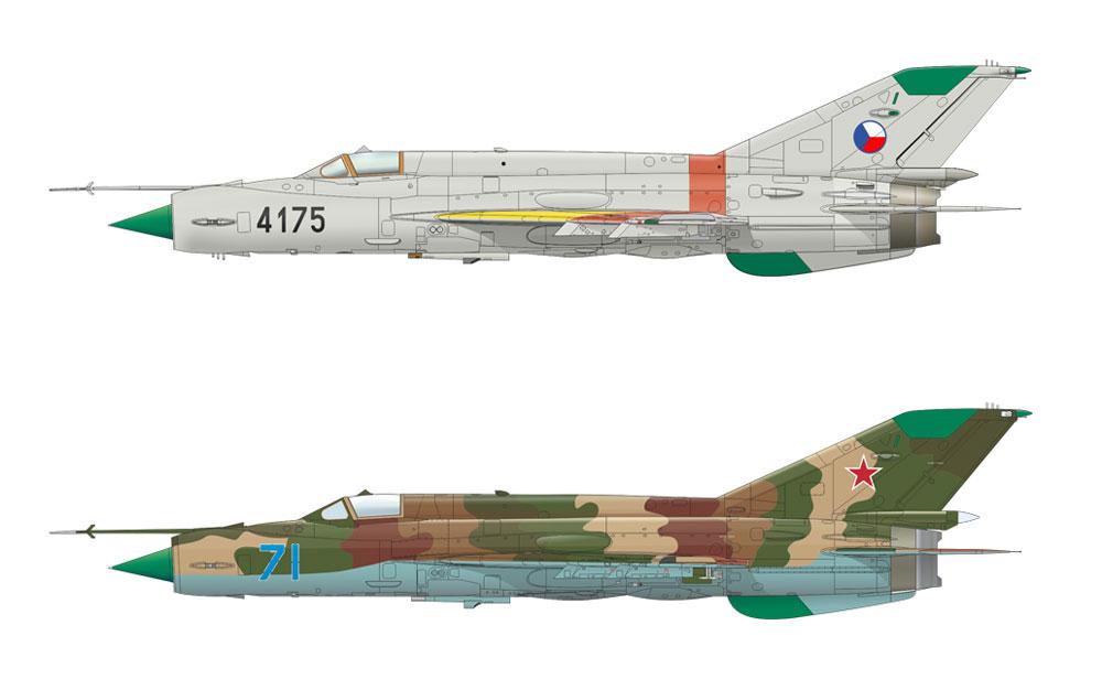 MiG-21MF 迎撃機プラモデル(エデュアルド1/72 ウィークエンド エディションNo.7453)商品画像_3