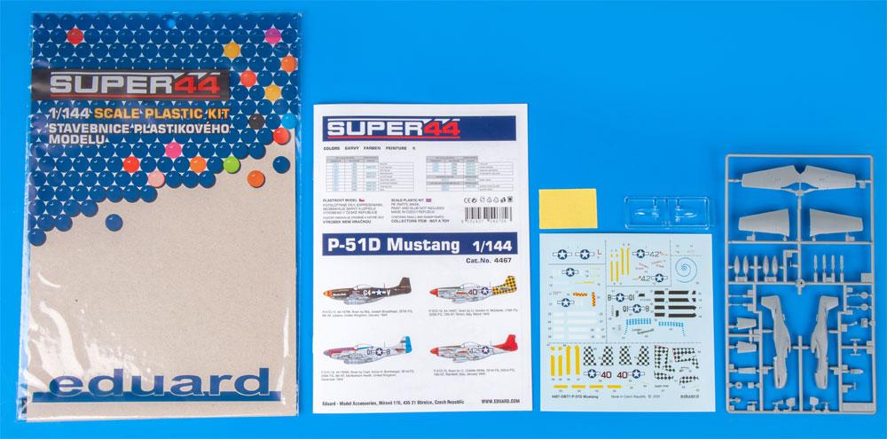 P-51D マスタングプラモデル(エデュアルド1/144 SUPER44No.4467)商品画像_1