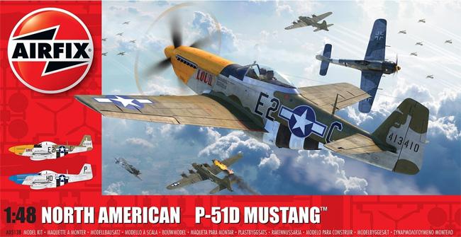 ノースアメリカン P-51D ムスタングプラモデル(エアフィックス1/48 ミリタリーエアクラフトNo.A05138)商品画像