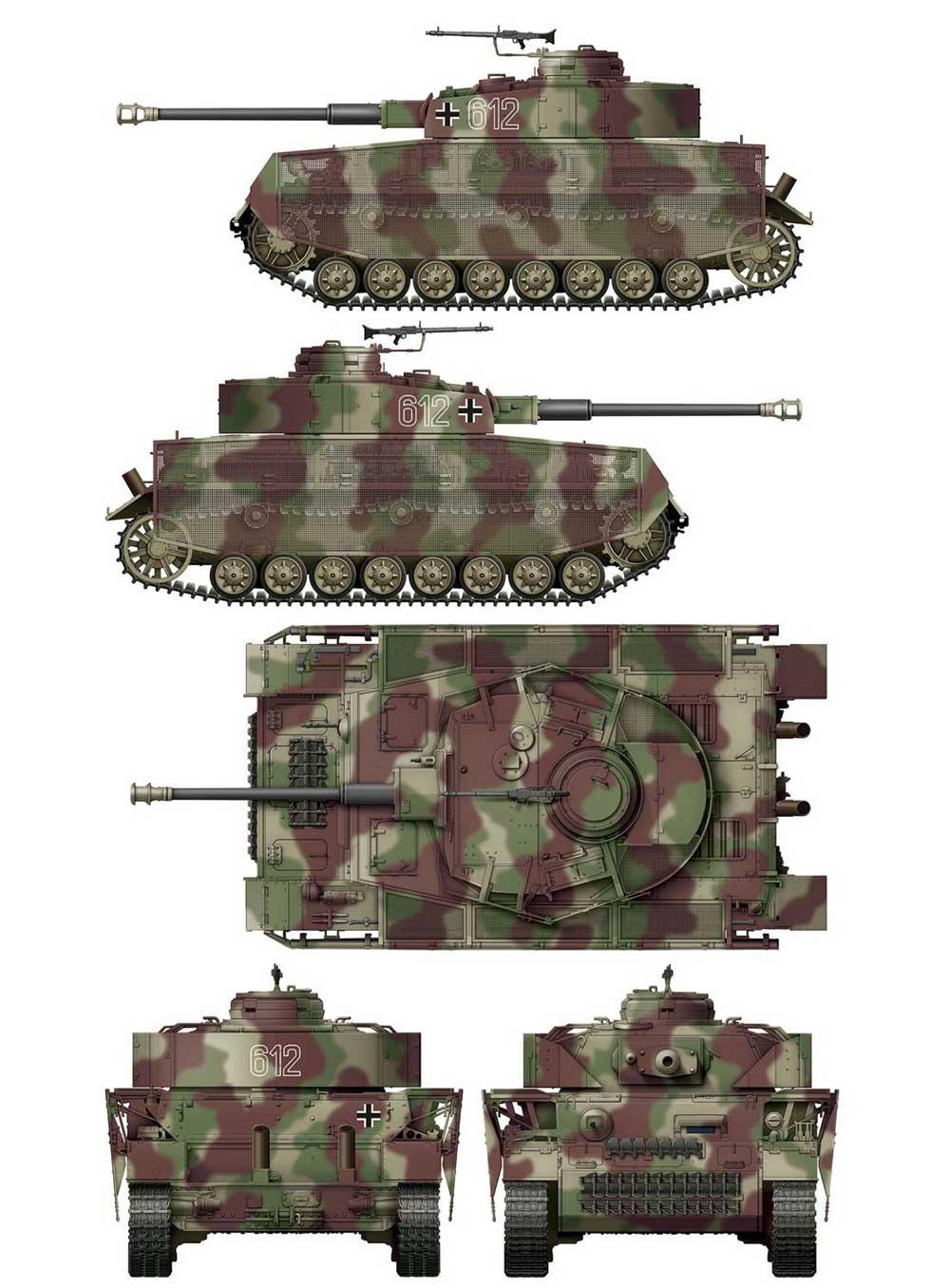 4号戦車J型 後期型 迷彩マスキングシート B (ボーダーモデル BT-008用)デカール(ボーダーモデル1/35 ミリタリーNo.BD-0036)商品画像_2