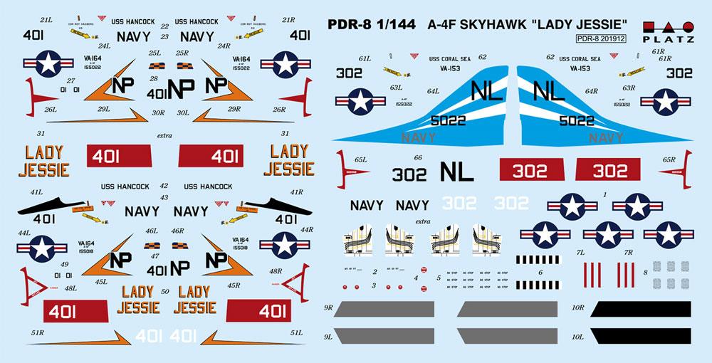 A-4F スカイホーク レディ ジェシー/ブルーテイルフライズプラモデル(プラッツ1/144 プラスチックモデルキットNo.PDR-008)商品画像_2