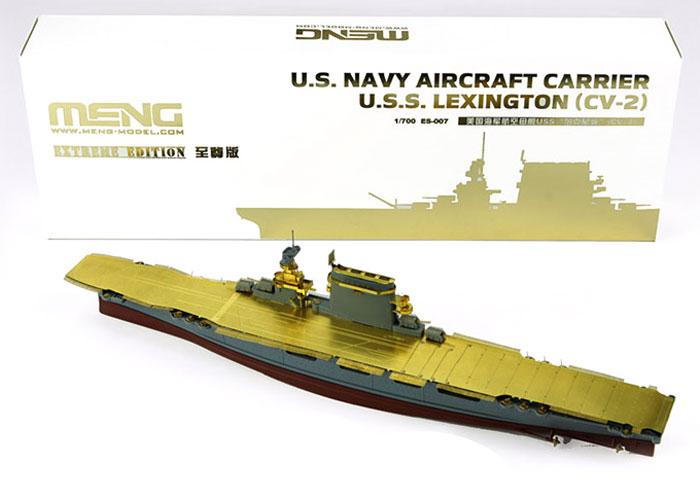 アメリカ海軍 航空母艦 レキシントン CV-2プラモデル(MENG-MODEL1/700 艦船No.ES-007)商品画像