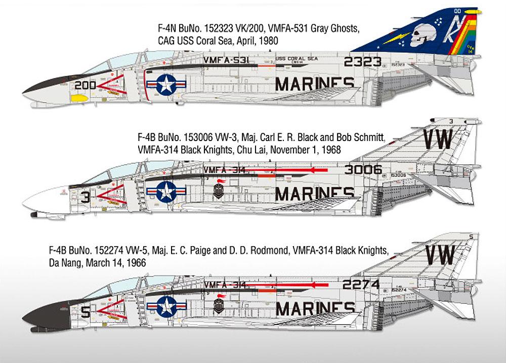 USMC F-4B/N ファントム 2 VMFA-531 グレイゴーストプラモデル(アカデミー1/48 Scale AircraftsNo.12315)商品画像_2