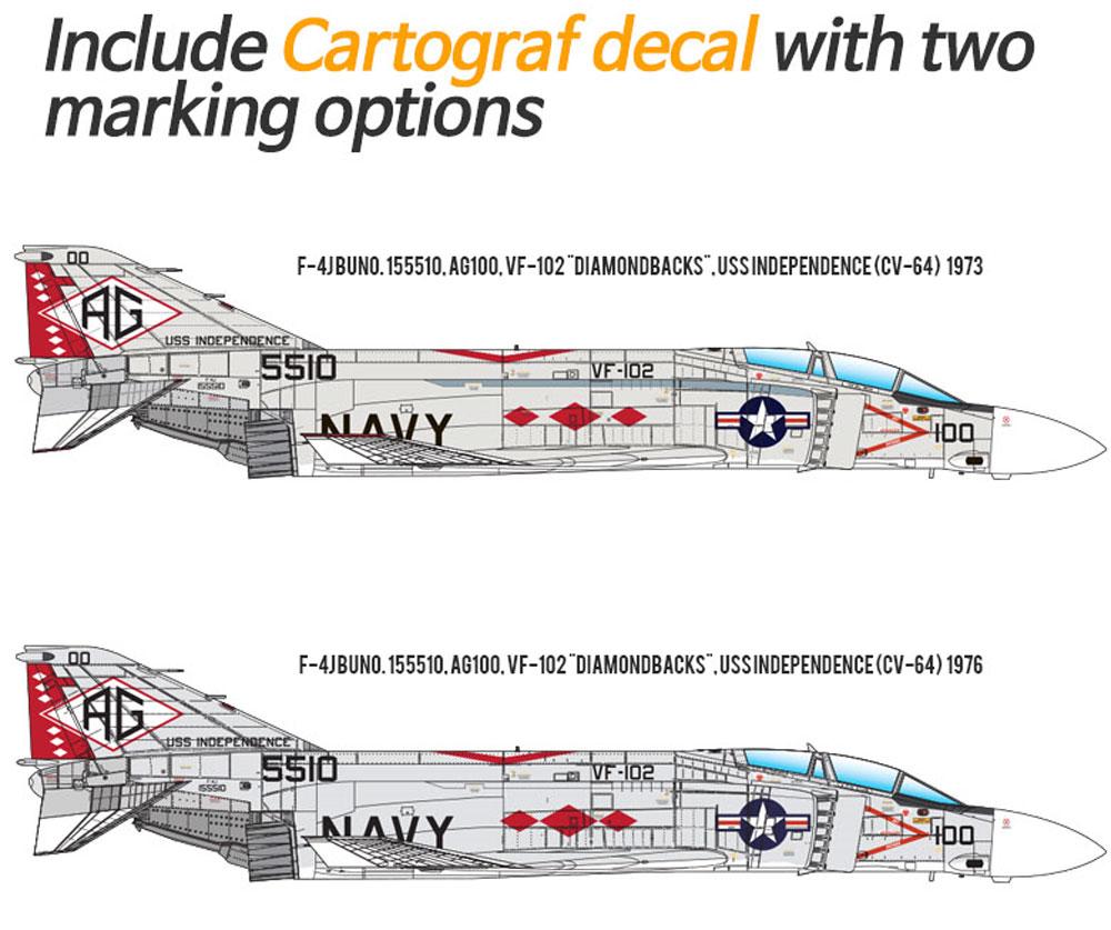 USN F-4J ファントム 2 VF-102 ダイヤモンドバックスプラモデル(アカデミー1/48 Scale AircraftsNo.12323)商品画像_2