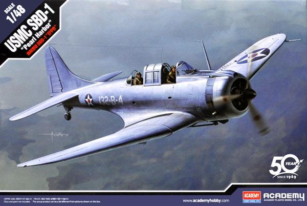 USMC SBD-1 ドーントレス パールハーバープラモデル(アカデミー1/48 Scale AircraftsNo.12331)商品画像