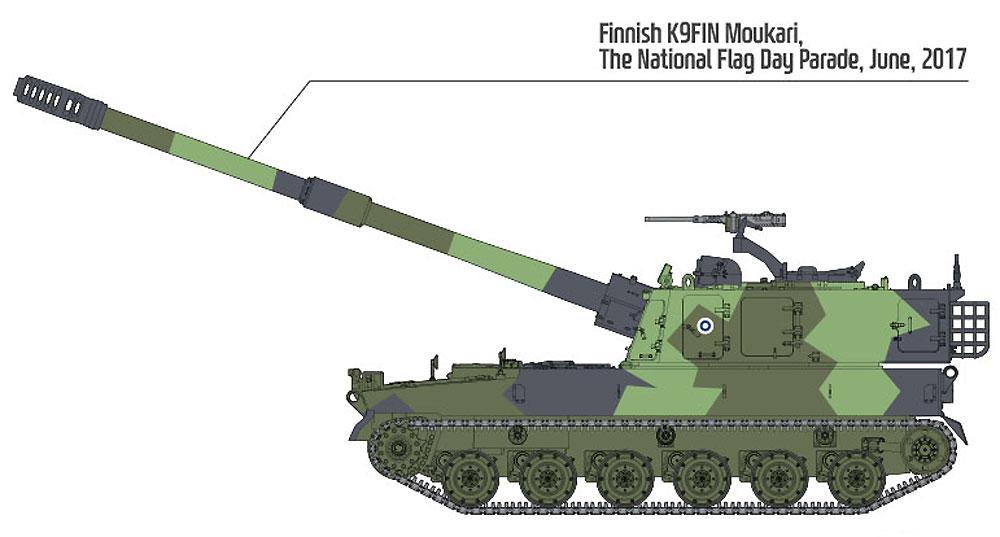 フィンランド陸軍 K9FIN 155mm自走砲 モウカリプラモデル(アカデミー1/35 ArmorsNo.13519)商品画像_2