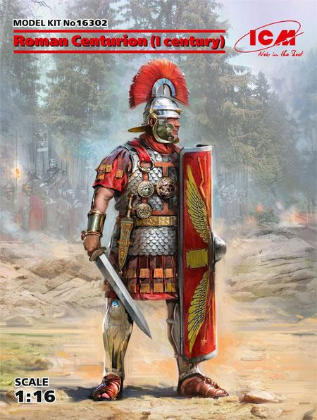 古代ローマ 百人隊長 (1世紀)プラモデル(ICM1/16 フィギュアNo.16302)商品画像