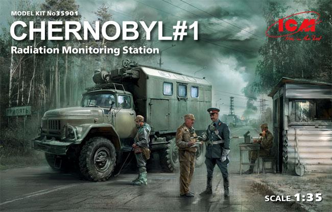 チェルノブイリ #1 放射線監視ステーションプラモデル(ICM1/35 ミリタリービークル・フィギュアNo.35901)商品画像