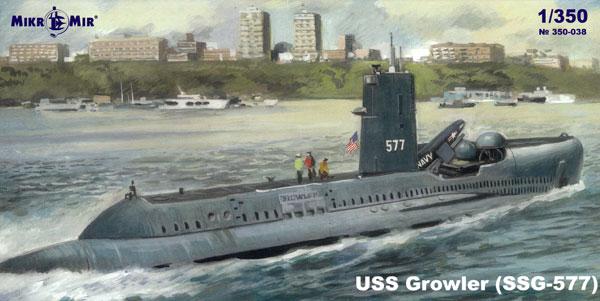 USS グロウラー SSG-577プラモデル(ミクロミル1/350 艦船モデルNo.350-038)商品画像