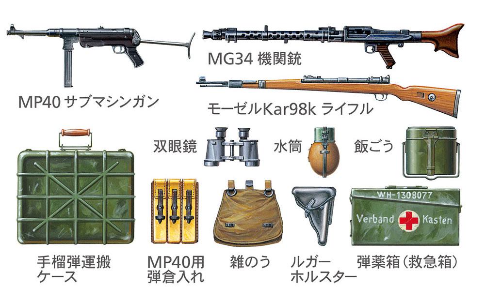 ドイツ歩兵セット (大戦中期)プラモデル(タミヤ1/35 ミリタリーミニチュアシリーズNo.371)商品画像_4