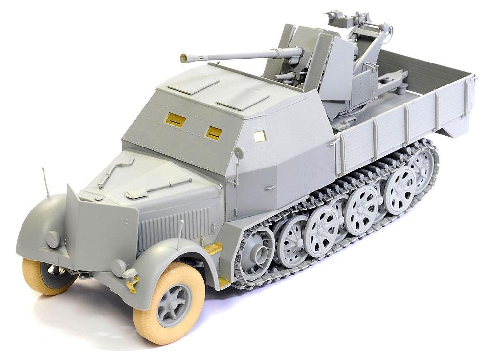 ドイツ Sd.Kfz.7/2 8トン ハーフトラック 3.7cm Flak37搭載型 アーマードキャビン / 3.7cm Flak36 搭載型プラモデル(ドラゴン1/35 39-45 SeriesNo.6953)商品画像_3
