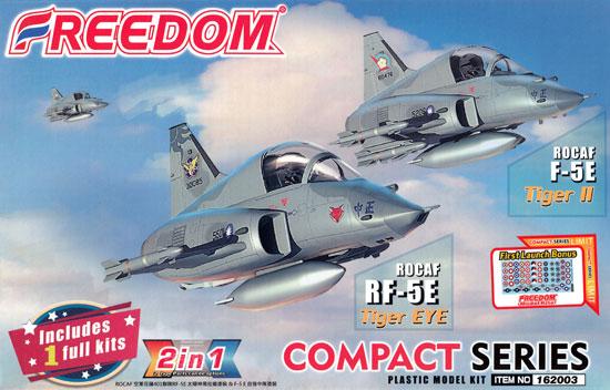 ROCAF F-5E タイガー 2 / RF-5E タイガーアイ 2in1プラモデル(フリーダムモデルコンパクトシリーズNo.162003)商品画像