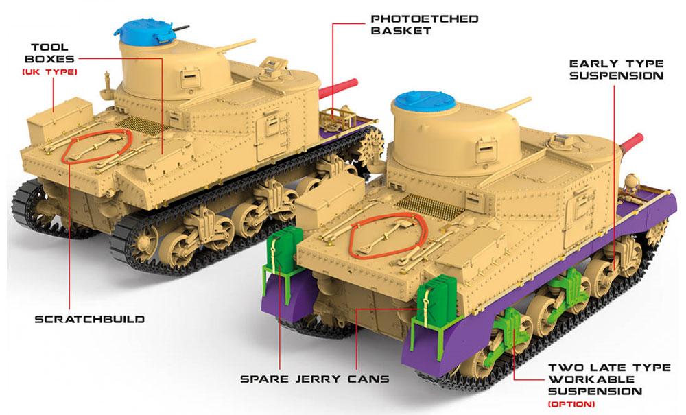 イギリス軍 M3 LEEプラモデル(ミニアート1/35 WW2 ミリタリーミニチュアNo.35270)商品画像_3