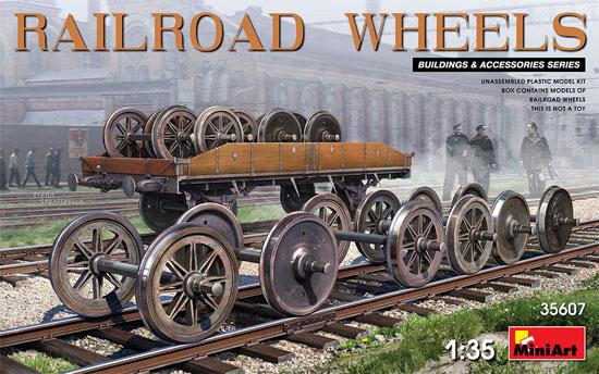 鉄道車輪セットプラモデル(ミニアート1/35 ビルディング&アクセサリー シリーズNo.35607)商品画像