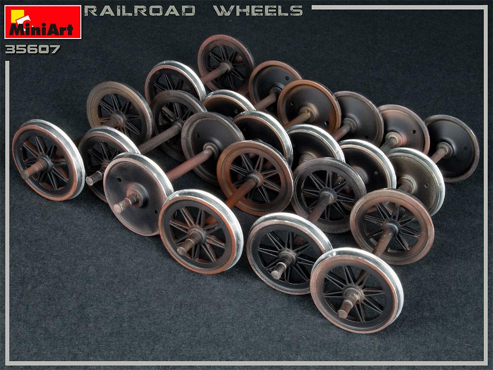 鉄道車輪セットプラモデル(ミニアート1/35 ビルディング&アクセサリー シリーズNo.35607)商品画像_1