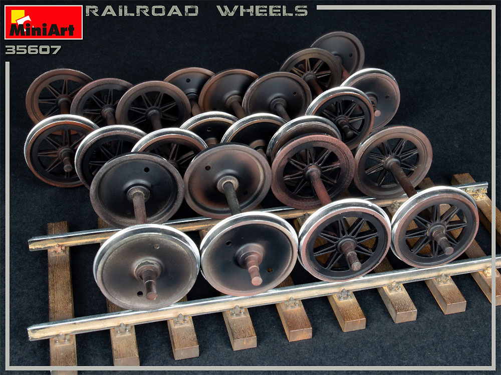 鉄道車輪セットプラモデル(ミニアート1/35 ビルディング&アクセサリー シリーズNo.35607)商品画像_2