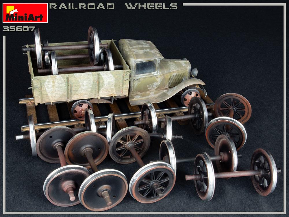 鉄道車輪セットプラモデル(ミニアート1/35 ビルディング&アクセサリー シリーズNo.35607)商品画像_3