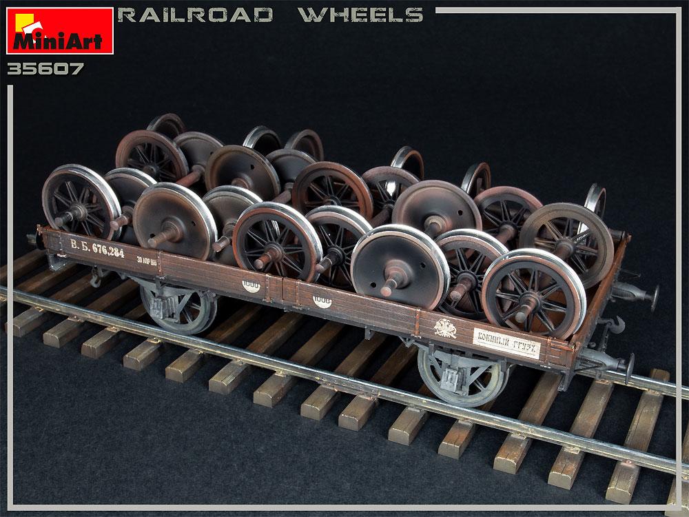 鉄道車輪セットプラモデル(ミニアート1/35 ビルディング&アクセサリー シリーズNo.35607)商品画像_4