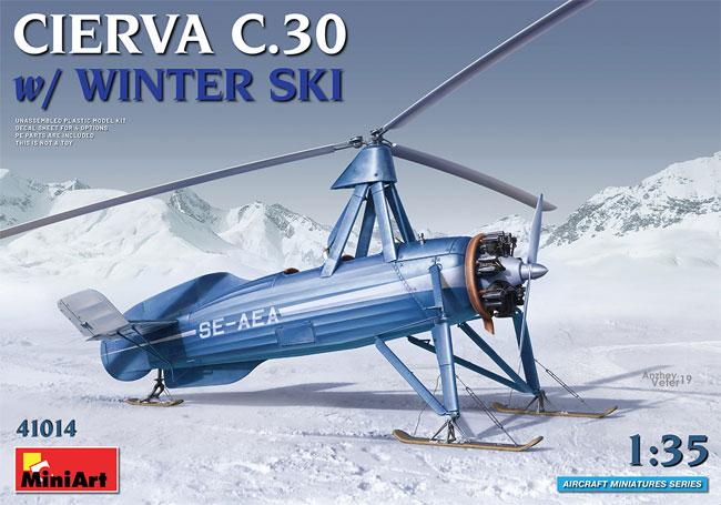 シェルヴァ C.30 雪上スキー仕様プラモデル(ミニアートエアクラフトミニチュアシリーズNo.41014)商品画像