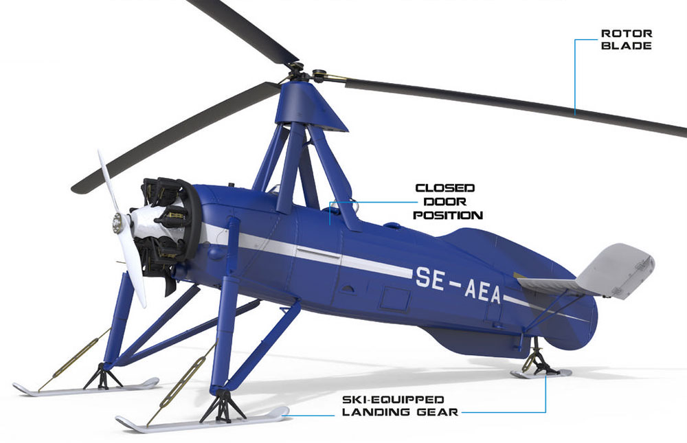 シェルヴァ C.30 雪上スキー仕様プラモデル(ミニアートエアクラフトミニチュアシリーズNo.41014)商品画像_2
