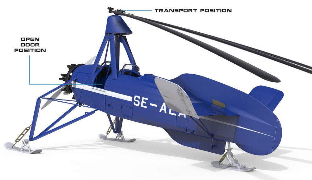 シェルヴァ C.30 雪上スキー仕様プラモデル(ミニアートエアクラフトミニチュアシリーズNo.41014)商品画像_3